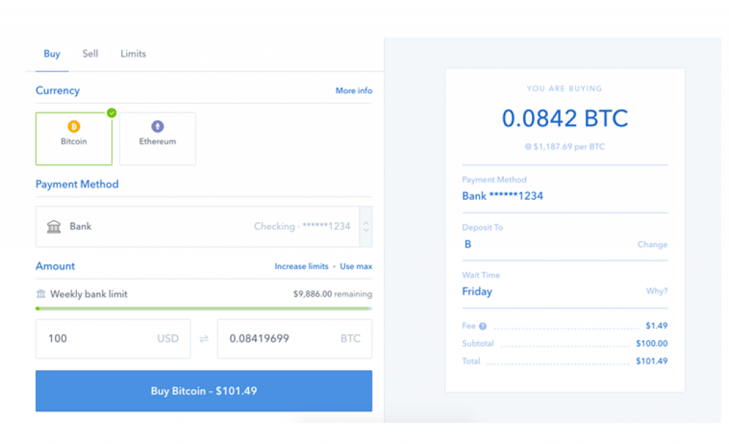 Coinbase changes instant buy bitcoins