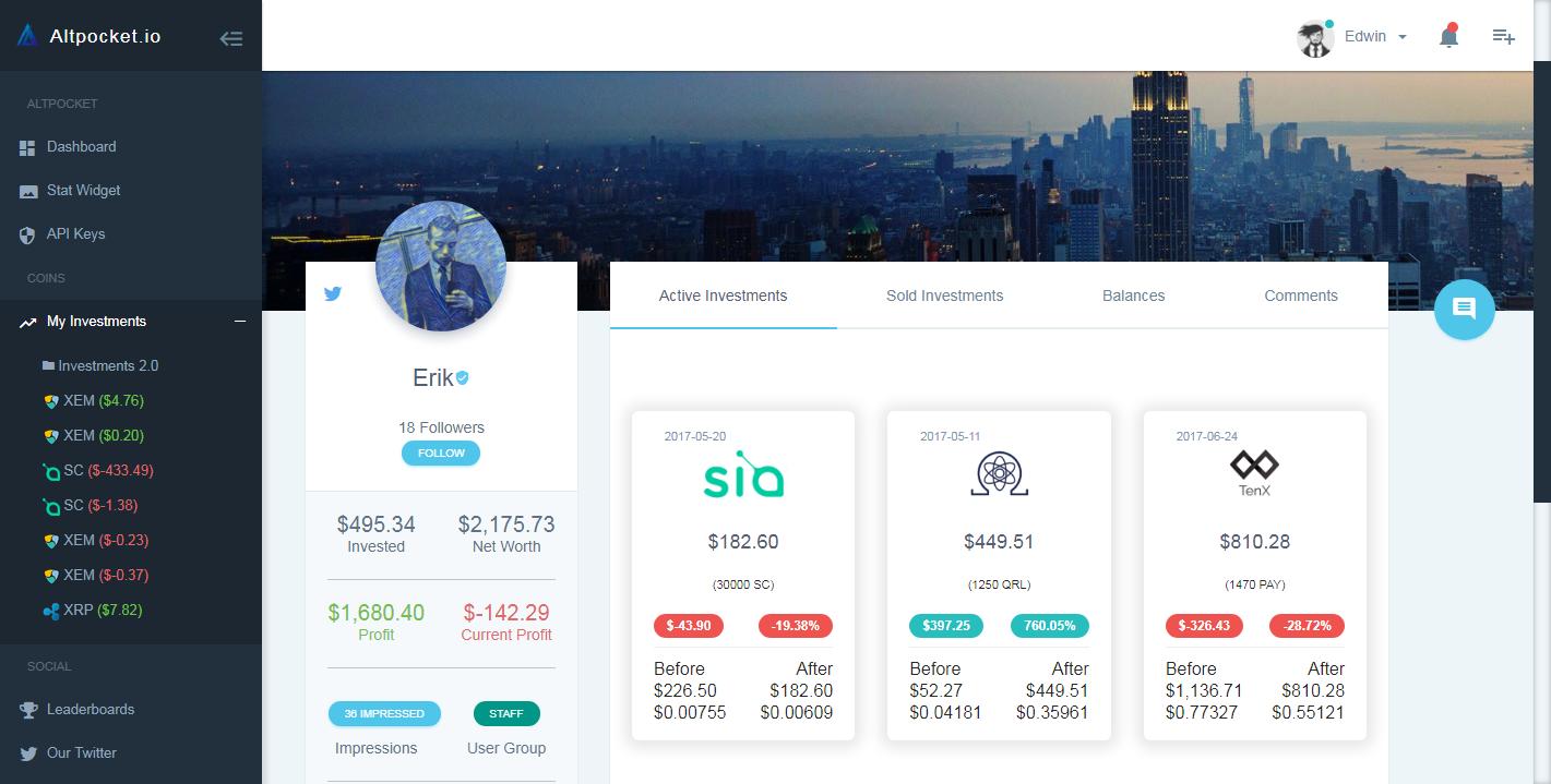 altpocket-cryptocurrency-portfolio-trackers