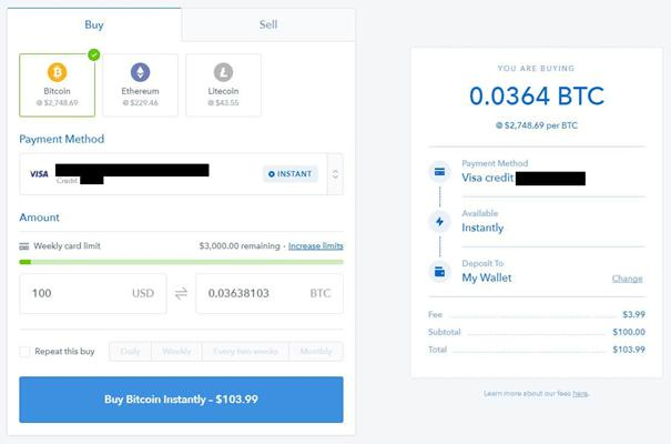 Buy bitcoin via coinbase