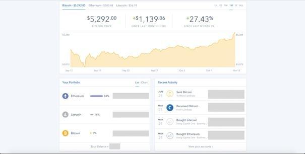 Coinbase UI
