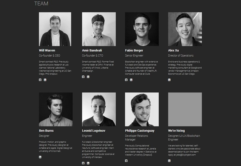 who are behind 0x protocol