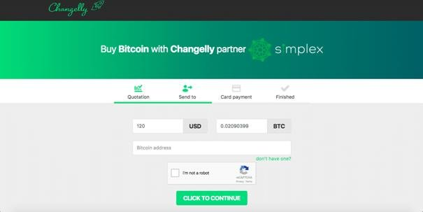 Changelly UI
