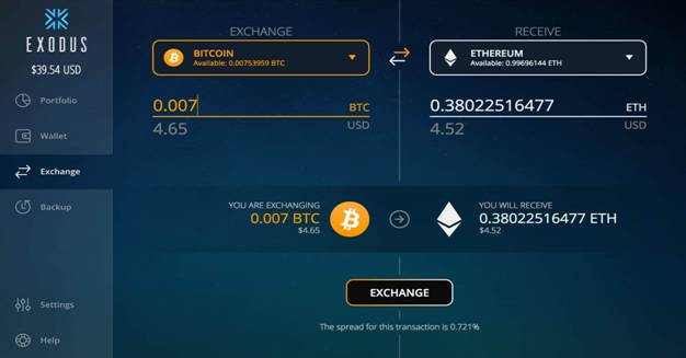 Exodus exchange