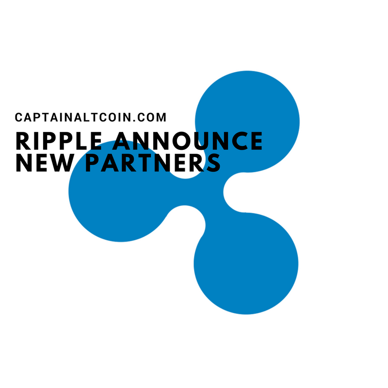 RIPPLE ANNOUNCE NEW PARTNERS