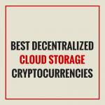 best CLOUD STORAGE cryptocurrencies
