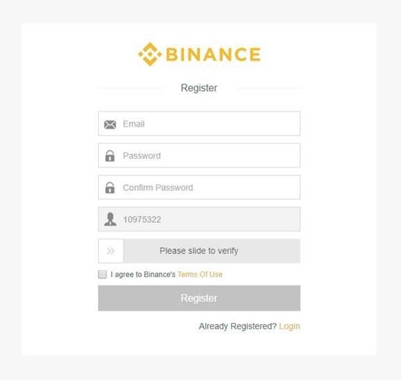 Binance account