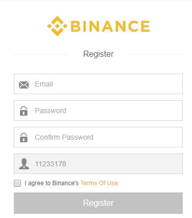 Binance register