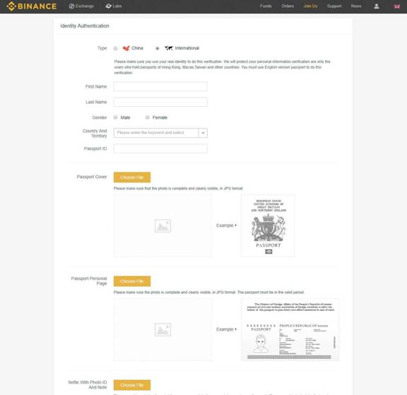 Setup Binance account
