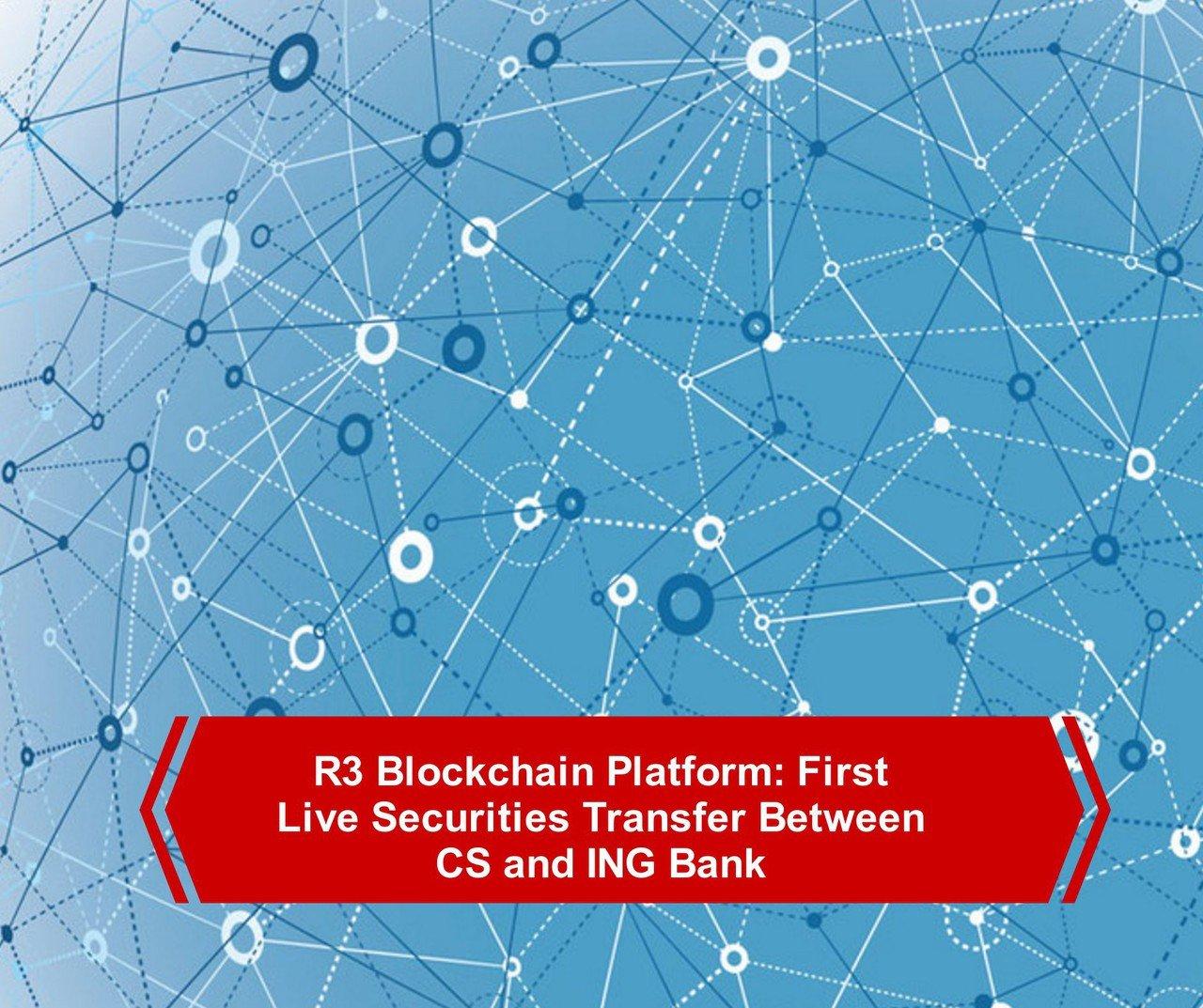 R3 blockchain live transfer