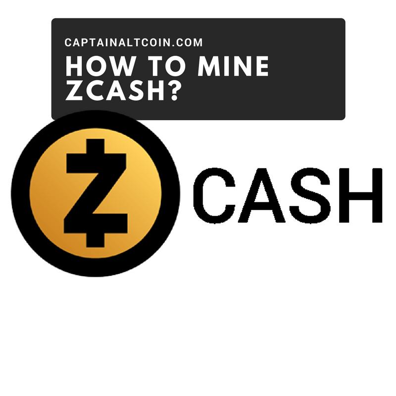 HOW TO MINE ZCASH_