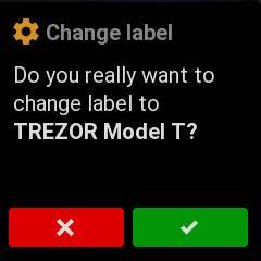 change label TREZOR