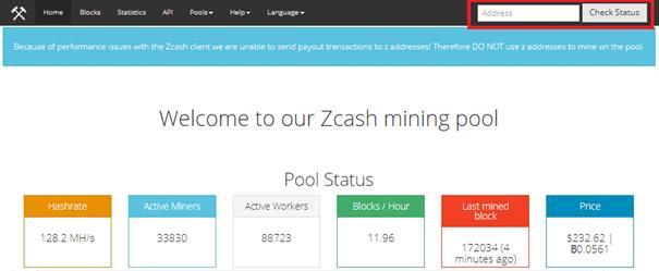 Zcash mining pool