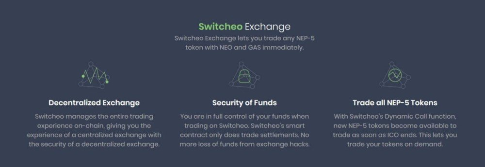 Switcheo Exchanges