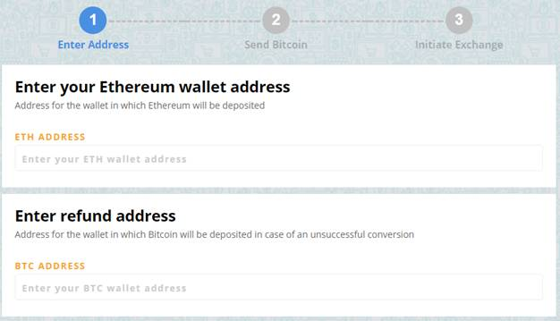 (ETH) address of the wallet
