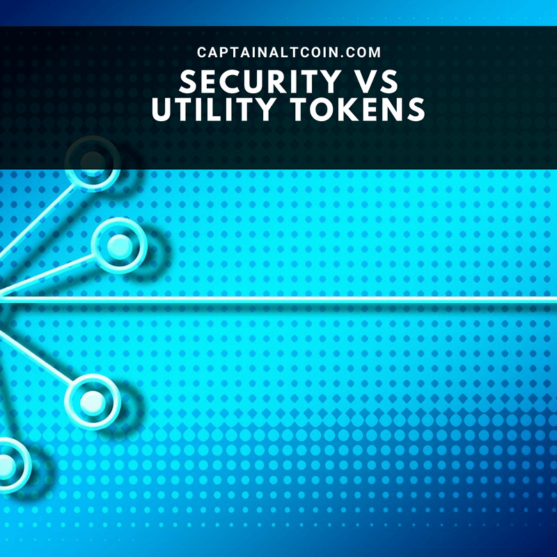 Security tokens vs. utility tokens (