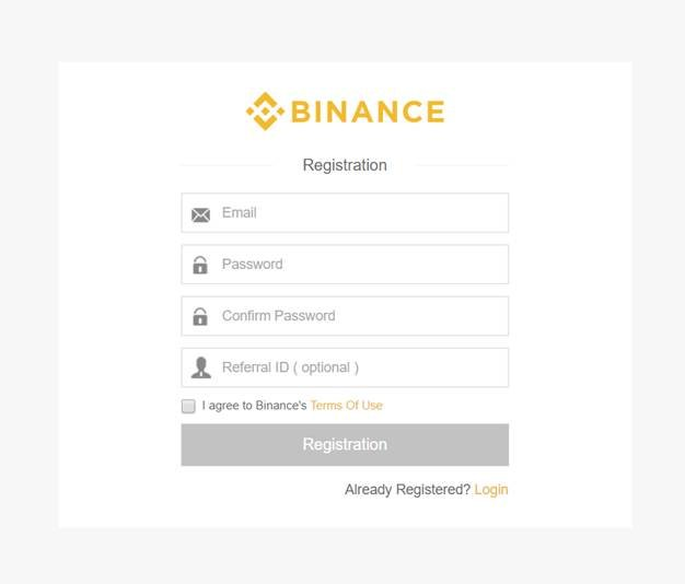 Binance account
