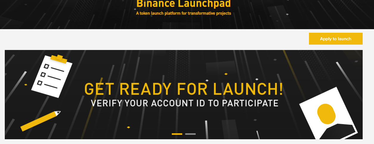 Binance Launchpad - Token Launch Platform