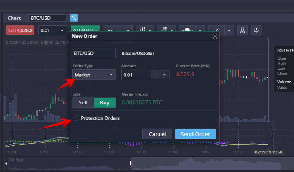 prime xbt placing an order