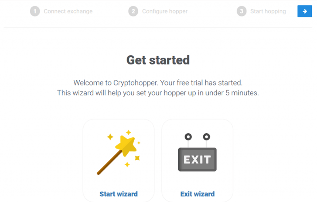 cryptohopper-review-wizard-setup