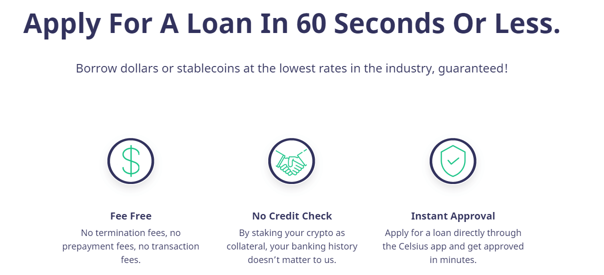 celsius loan conditions