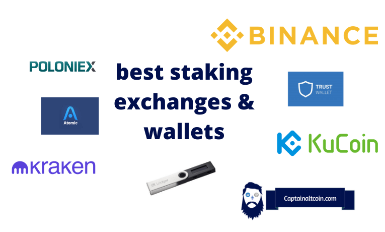 staking exchanges and wallets