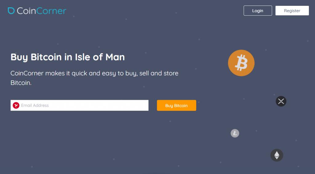 Coincorner website homepage