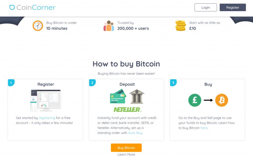 How to buy bitcoin via coincorner