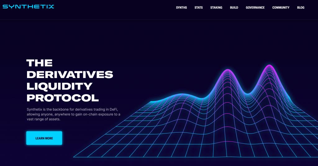 Synthetix homepage