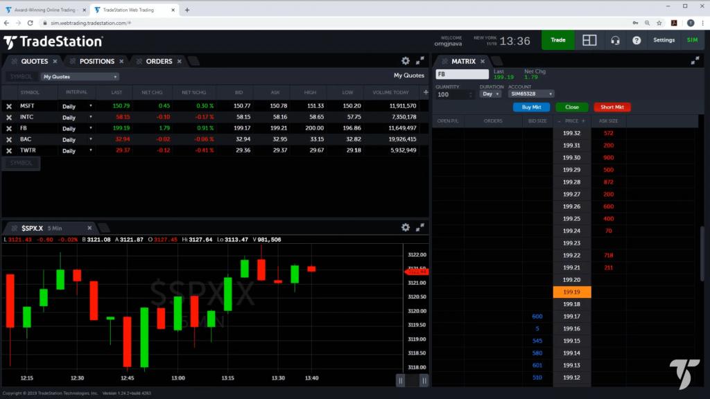 Tradestation web platform