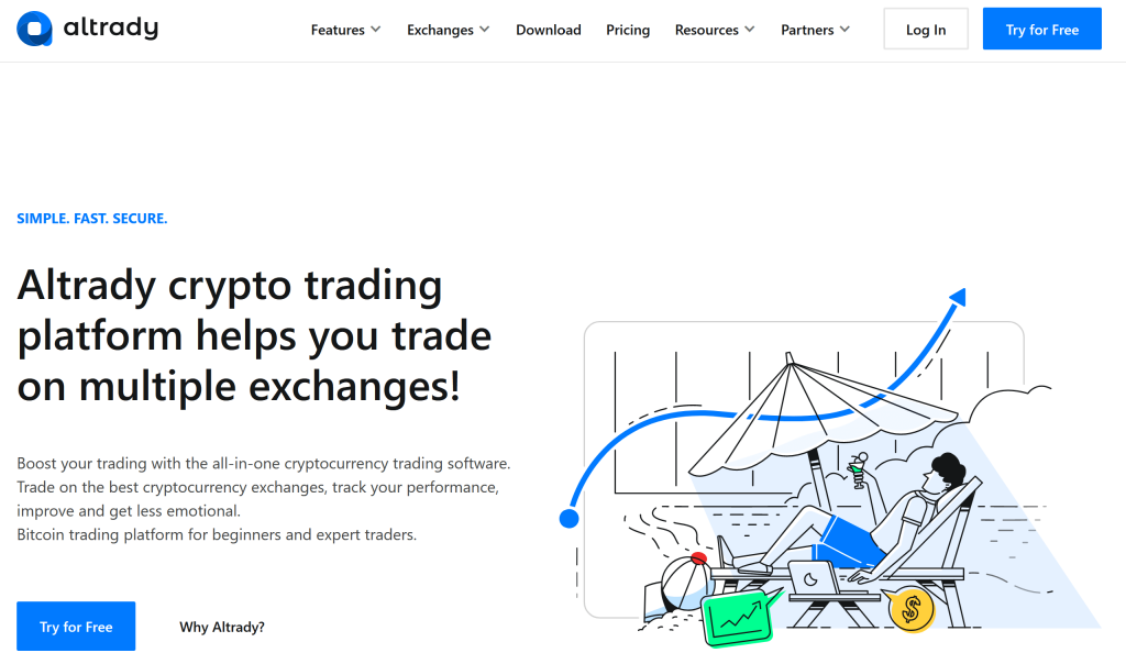 altrady homepage