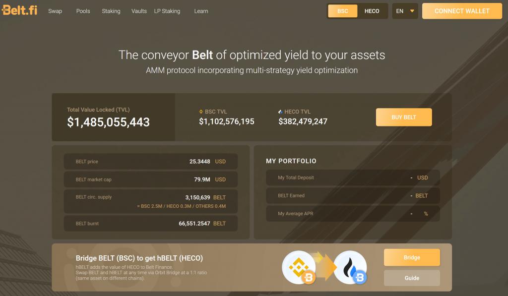 belt fi homepage