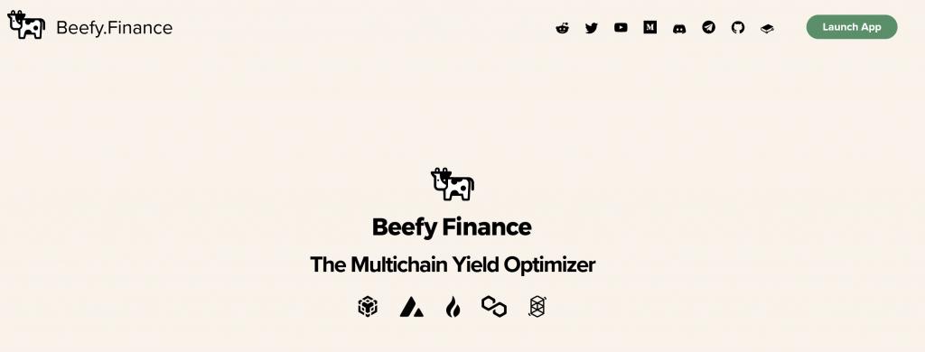 Beefy finance homepage