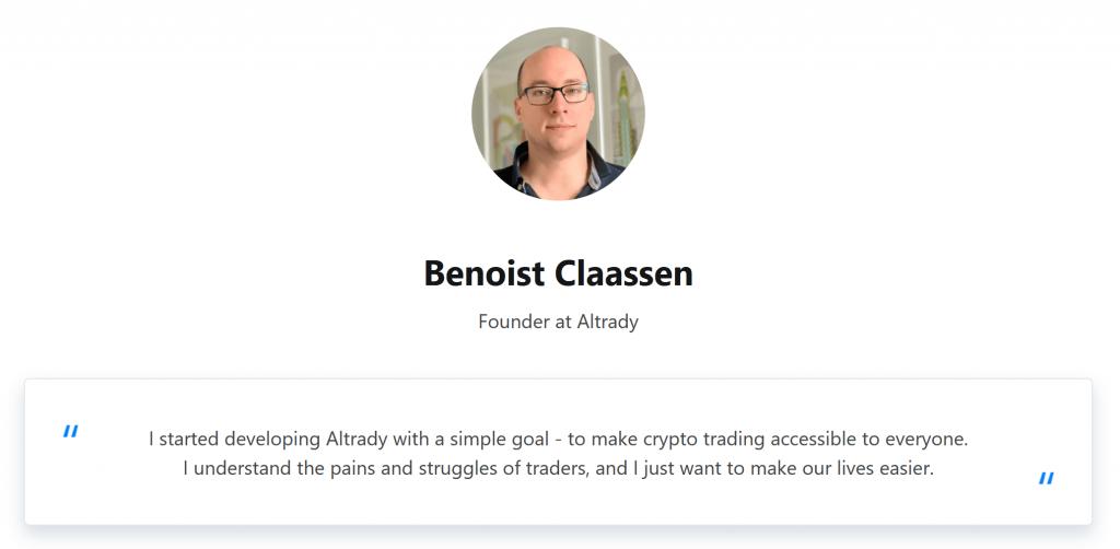 Benoist Claassen Altrady Founder
