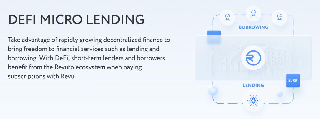 Defi micro lending revuto