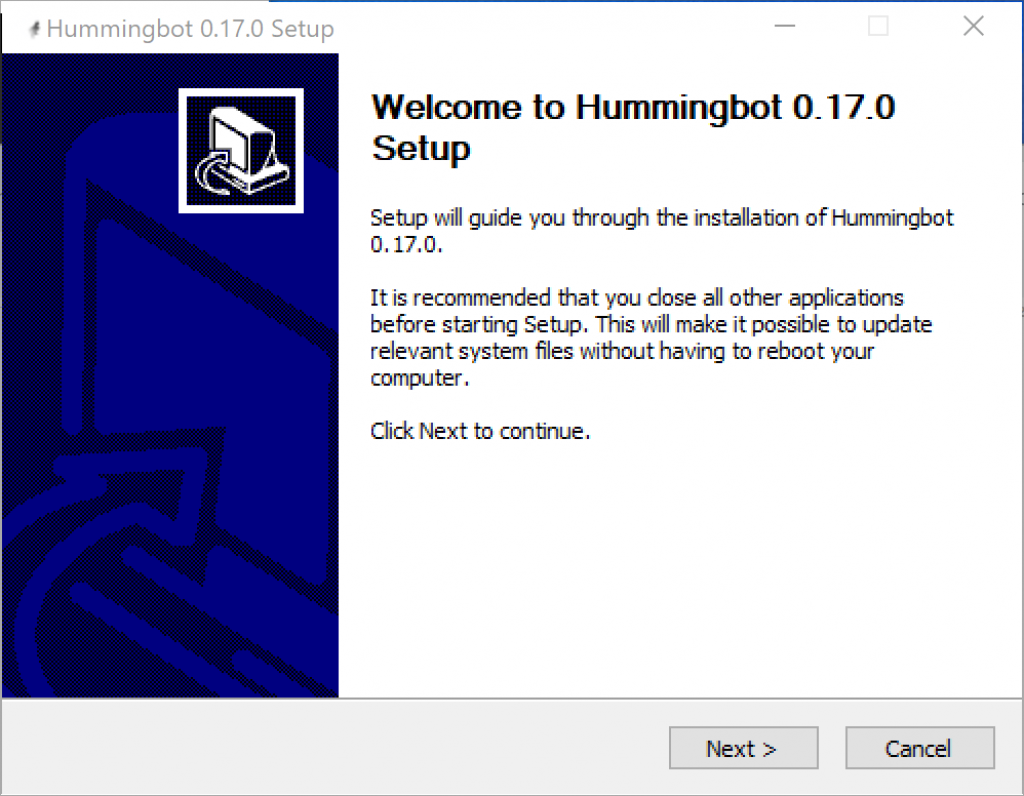 Hummingbot windows-setup