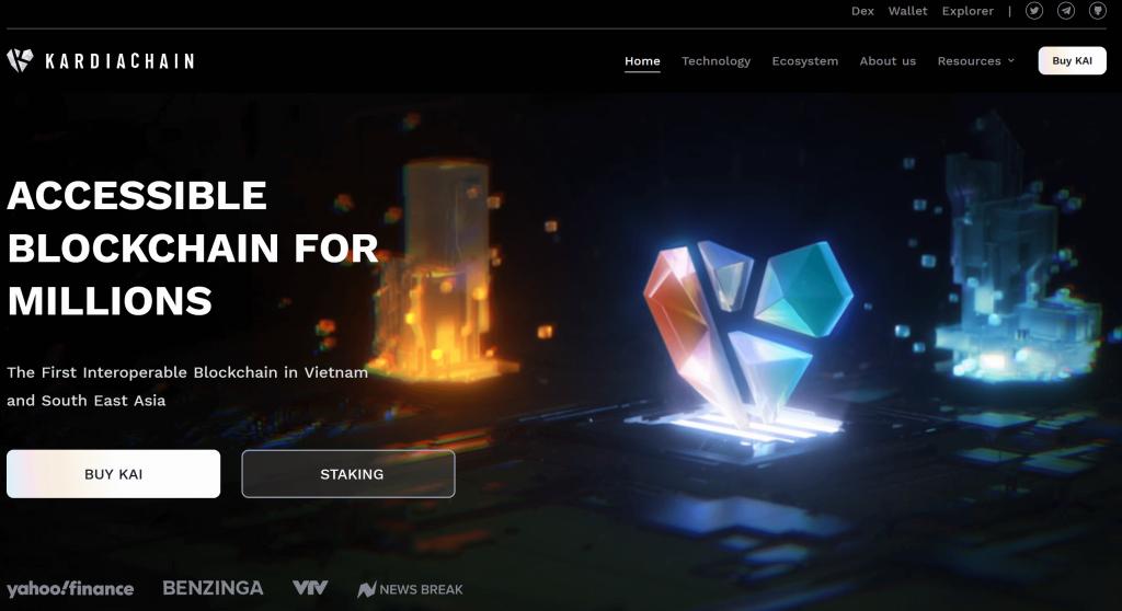 Kardiachain homepage website