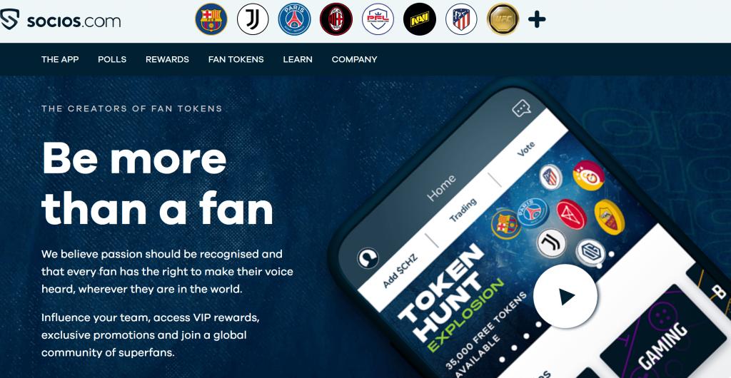 Socios.com homepage