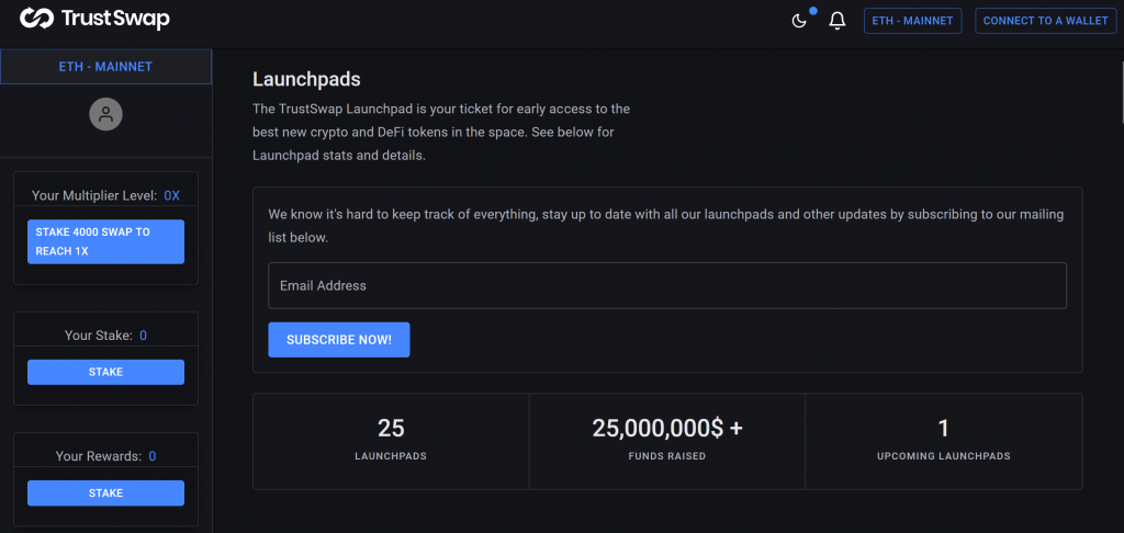 TrustSwap launchpad
