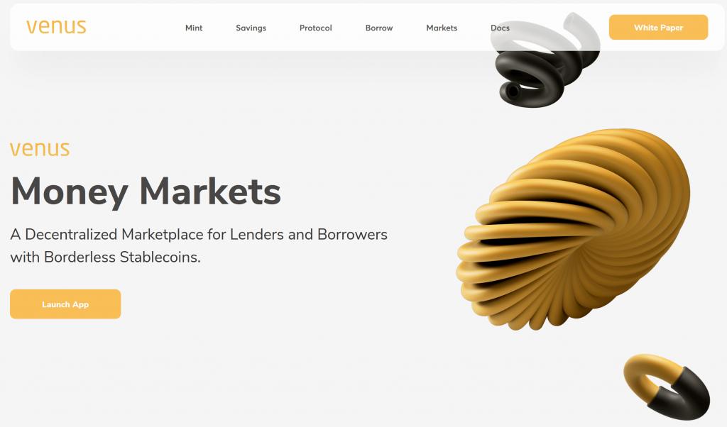 Venus io website homepage
