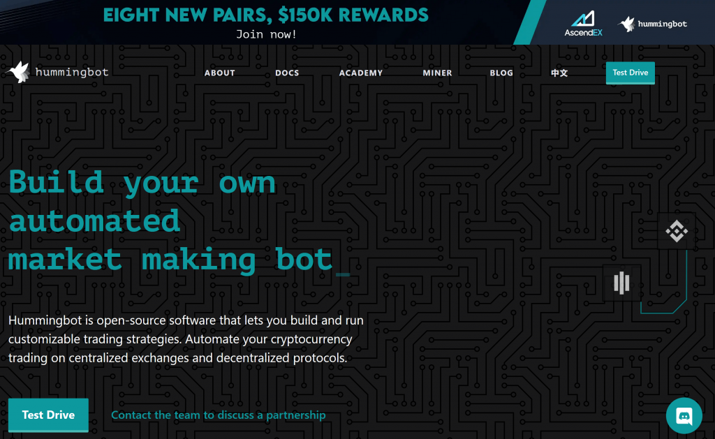 hummingbot homepage