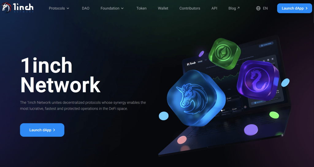 1inch Network homepage