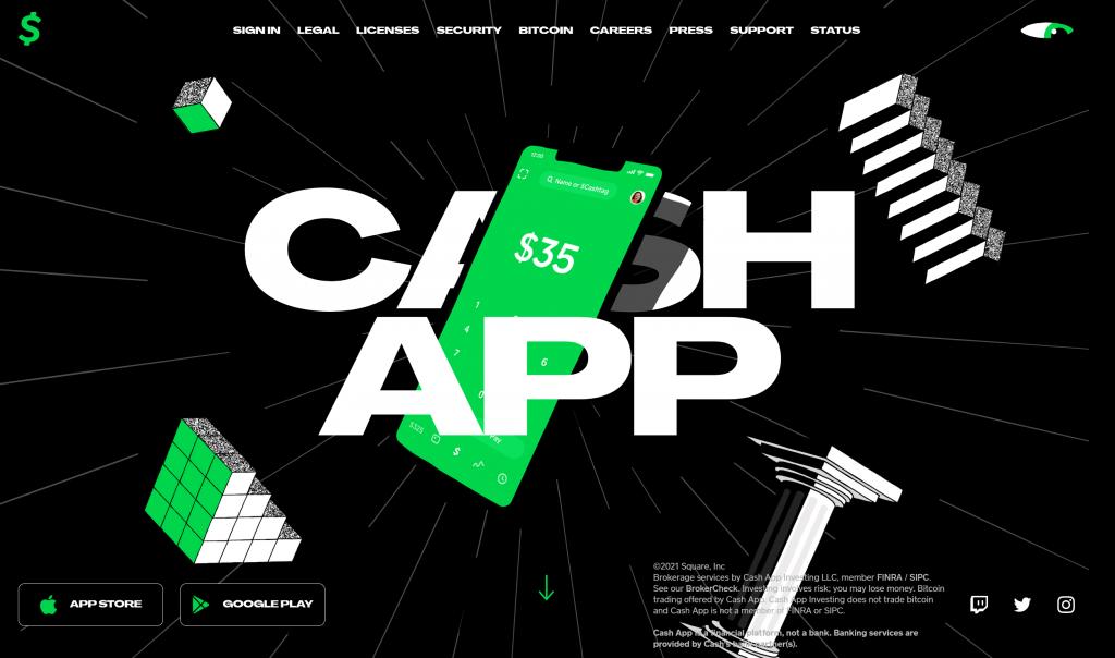 CashApp Homepage