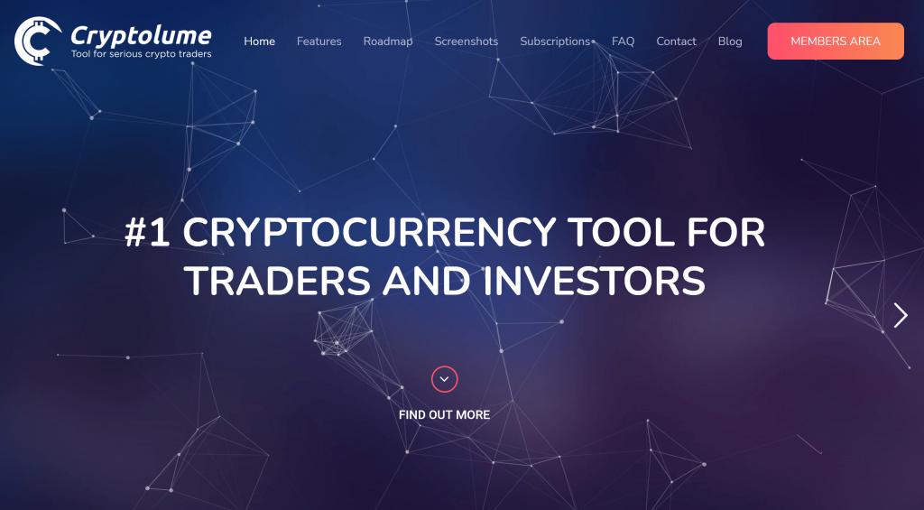Cryptolume homepage
