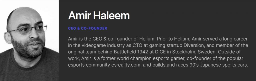 Amir Haleem Helium
