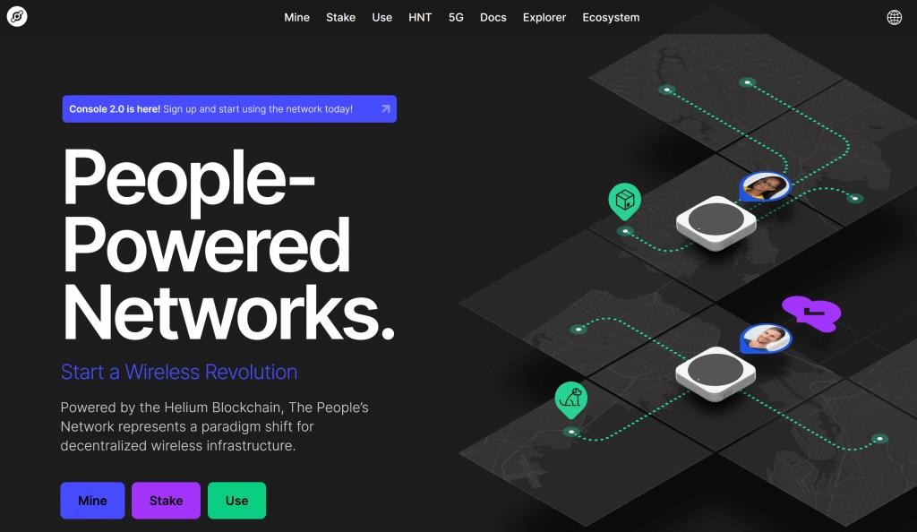 Helium network homepage