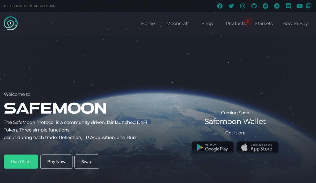 Safemoon homepage